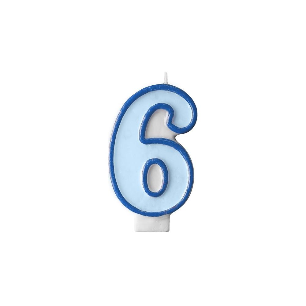 Narozeninová svíčka číslo 6 - modrá