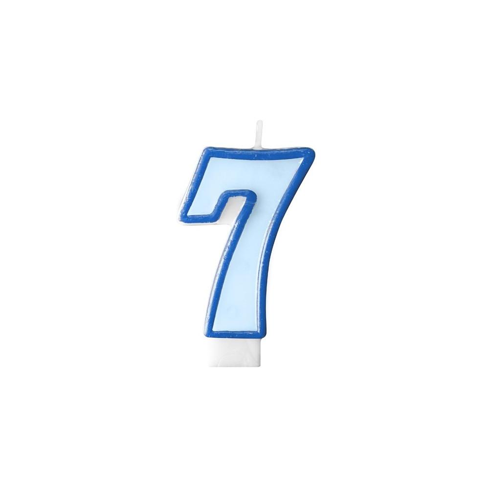 Narozeninová svíčka číslo 7 - modrá