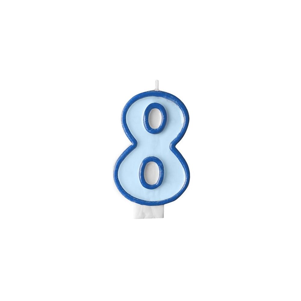 Narozeninová svíčka číslo 8 - modrá