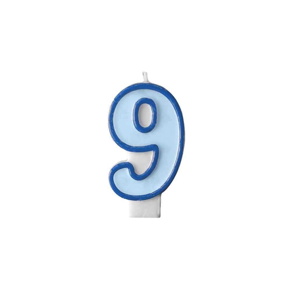 Narozeninová svíčka číslo 9 - modrá