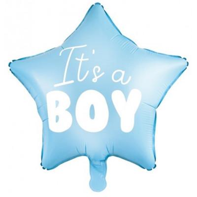 Fóliový balónek hvězda 45 cm - It´s a boy modrý