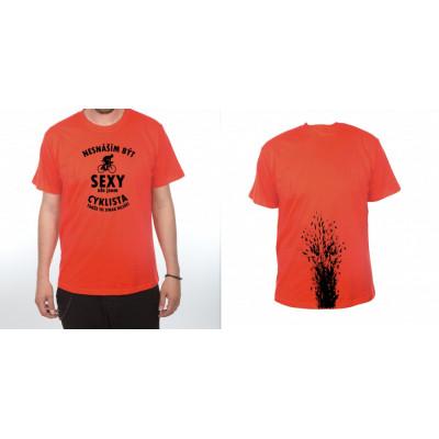 Tričko - Jsem cyklista - červené