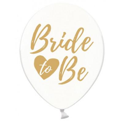Balónky Bride to Be 6 ks - zlatý