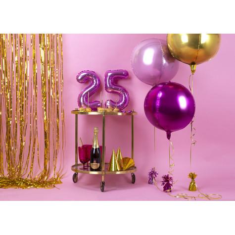Fóliový balónek 35 cm růžový - číslo 0