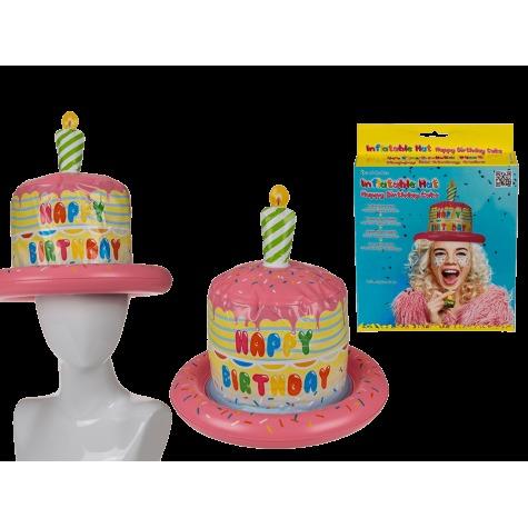 Nafukovací narozeninový dort - čepice