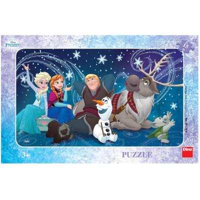 Dino Frozen: Sněhové vločky deskové puzzle 15 dílků