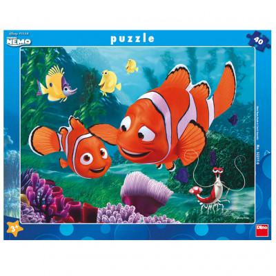 Dino Nemo v bezpečí deskové puzzle 40 dílků