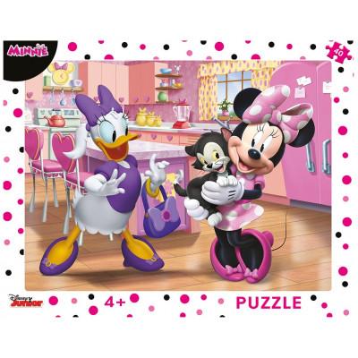 Dino Růžová Minnie deskové puzzle 40 dílků