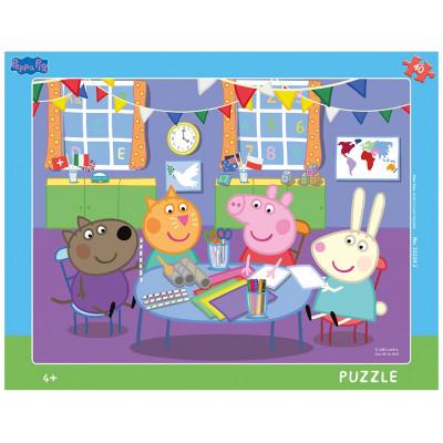 Dino Peppa Pig: Ve školce deskové puzzle 40 dílků