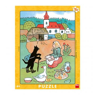 Dino Josef Lada: Mikeš na vandru deskové puzzle 40 dílků