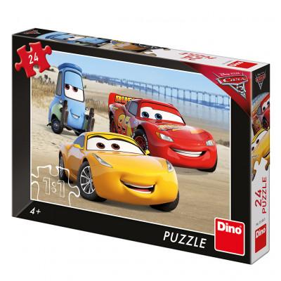 Dino Cars 3: Na pláži puzzle 24 dílků
