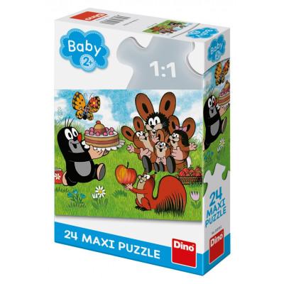 Dino Krtek: Narozeniny maxi puzzle 24 dílků