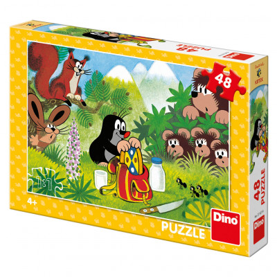 Dino Krtek a svačina puzzle 48 dílků