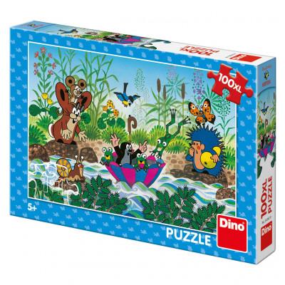 Dino Krtečkova plavba puzzle 100XL dílků