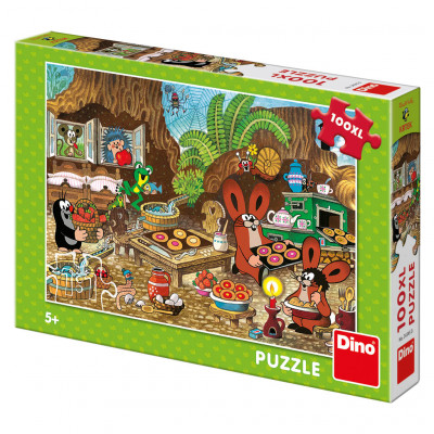 Dino Krtek v kuchyni puzzle 100XL dílků