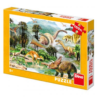 Dino Život dinosaurů puzzle 100XL dílků