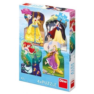 Dino Princezny a kamarádi puzzle 4x54 dílků