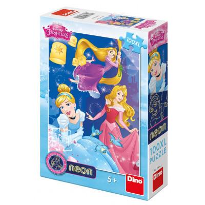 Dino Princezny: Oslava neon puzzle 100XL dílků
