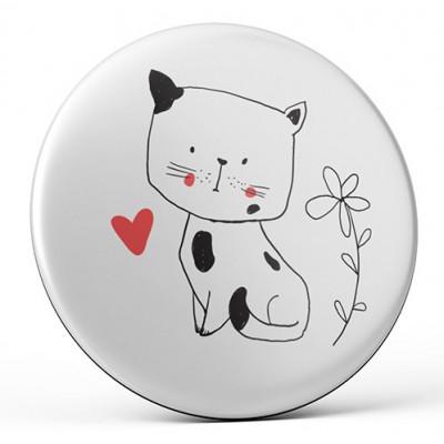 Nekupto Magnetka 45mm - Kočka srdce