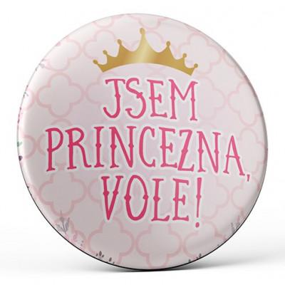 Nekupto Magnetka 45mm - Jsem princezna! vole