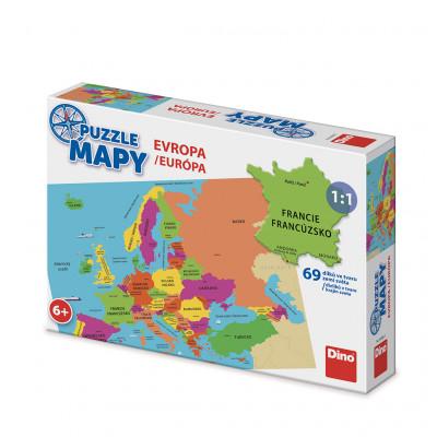Dino Mapa Evropy dětské puzzle 69 dílků