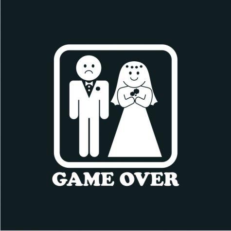 Tričko - GAME OVER - černé