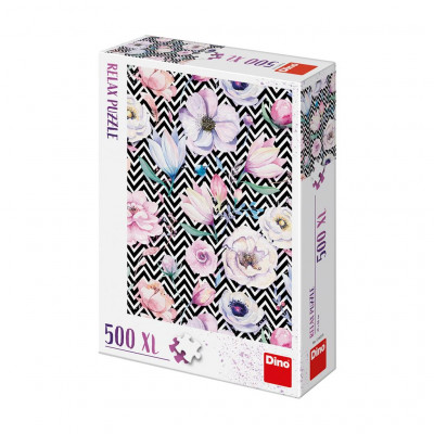 Dino Květy relax puzzle 500XL dílků