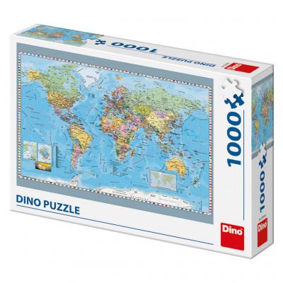 Dino Politická mapa Světa puzzle 1000 dílků