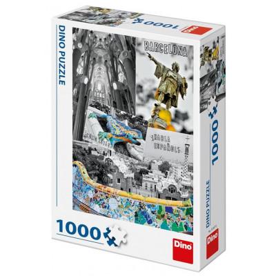 Dino Barcelona koláž puzzle 1000 dílků