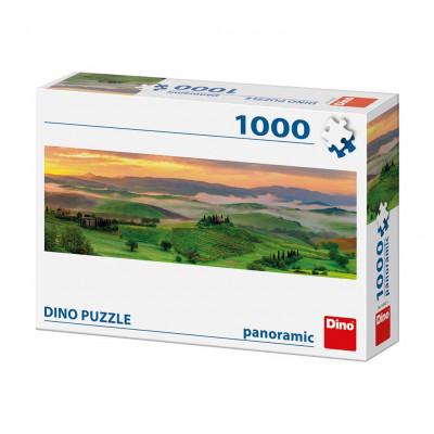 Dino Západ slunce panoramic puzzle 1000 dílků
