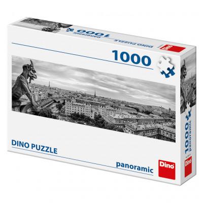 Dino Chrlič v Paříži panoramic puzzle 1000 dílků