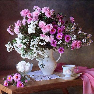 Diamantové malování - květina