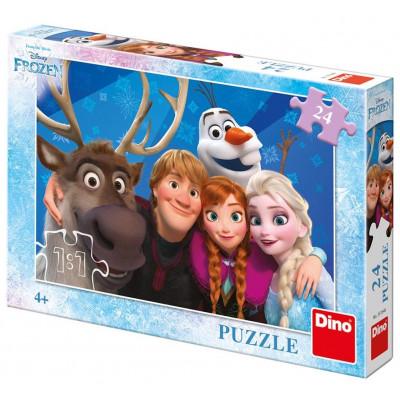 Dino Frozen Selfie puzzle 24 dílků