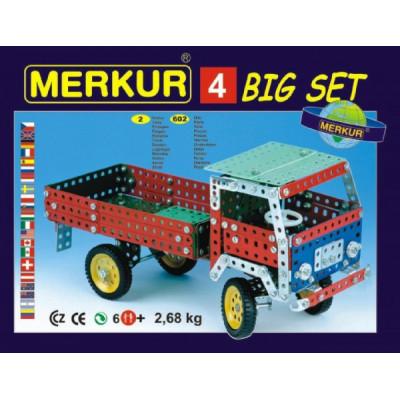 Stavebnice MERKUR 4 40 modelů 602ks 2 vrstvy v krabici 36x26,5x5,5cm