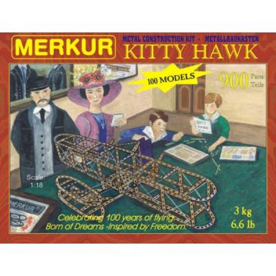 Stavebnice MERKUR Kitty Hawk 100 modelů 900ks v krabici 36x27x5cm