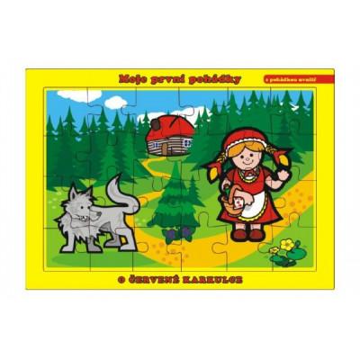 Teddies Puzzle deskové O Červené Karkulce 24 dílků