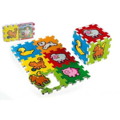 Teddies Pěnové puzzle Moje první zvířátka 15x15x1,2cm 6ks