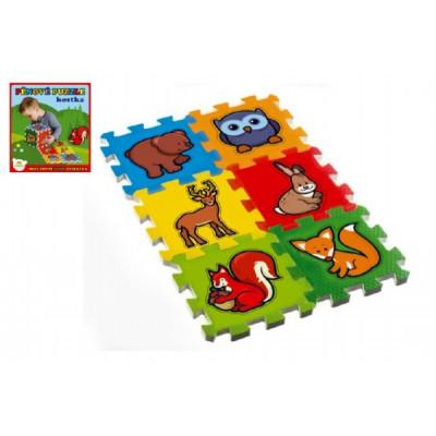 Teddies Pěnové puzzle Moje první lesní zvířátka 15x15x1,2cm 6ks