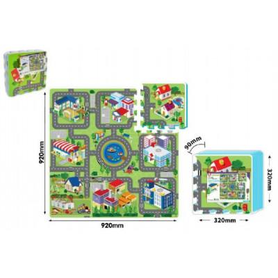 Wiky Pěnové puzzle Město 32x32cm 9ks 10m+