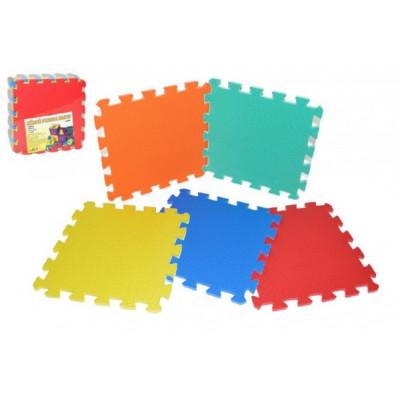 Wiky Pěnové puzzle barevné 32x32cm 10ks