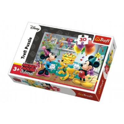 Trefl Puzzle Mickey a Minnie slaví narozeniny Disney 30 dílků