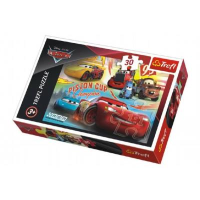 Trefl Puzzle Cars 3/Auta koláž 30 dílků