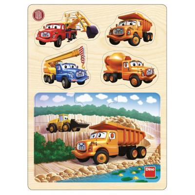 Dino Tatra v lomu dřevěné puzzle 13 dílků