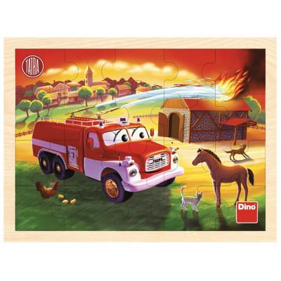 Dino Tatra hasiči dřevěné puzzle 20 dílků