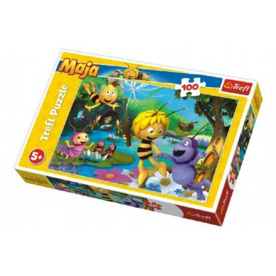Trefl Puzzle Včelka Mája s přáteli 100 dílků
