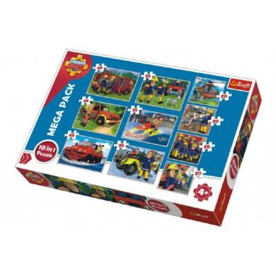 Trefl Puzzle Požárník Sam 10v1 20, 35, 48 dílků