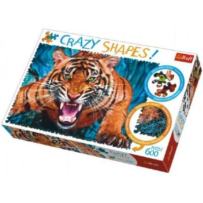 Trefl Puzzle Tváří v Tvář Tygrovi 600 dílků Crazy Shapes