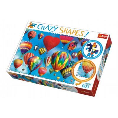 Trefl Puzzle Barevné balóny 600 dílků Crazy Shapes