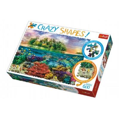 Trefl Puzzle Tropický Ostrov 600 dílků Crazy Shapes