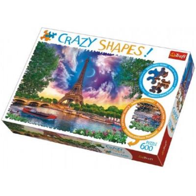 Trefl Puzzle Nebe nad Paříží 600 dílků Crazy Shapes